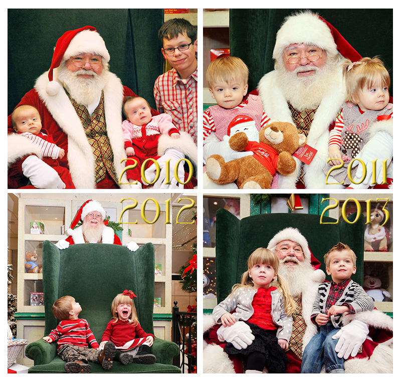 Santa Collage w years